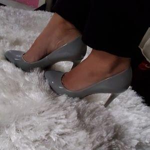 Zara Shoes - Zara Basic Patent Gray Heels 37